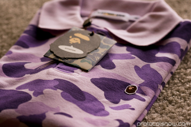 A Bathing Ape Bape city camo polo shirt taipei