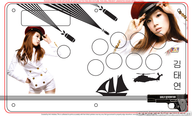 Street Fighter 4 Tournament Edition Madcatz arcade stick fighting game custom art customization template SNSD Taeyeon leader Kpop