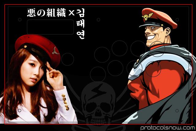 Taeyeon SNSD arcade stick Madcatz TE custom design mod artwork