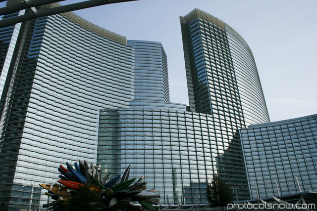 Aria CityCenter complex Las Vegas resort casino hotel glass