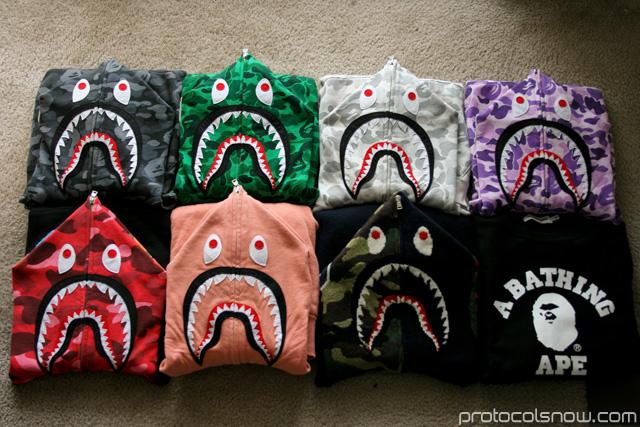 A Bathing Ape Bape city camo shark hoody harajuku shibuya taipei tokyo collection