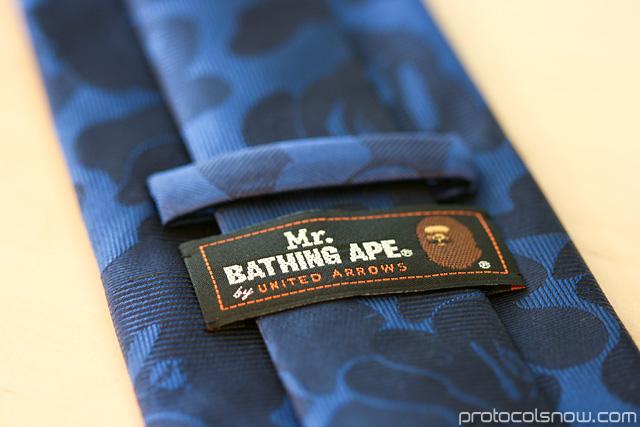 Mr. Bathing Ape Bape United Arrows jacquard camo tie necktie