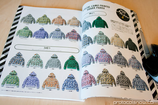 A Bathing Ape Bape e-mook Japanese catalog shark hoodies