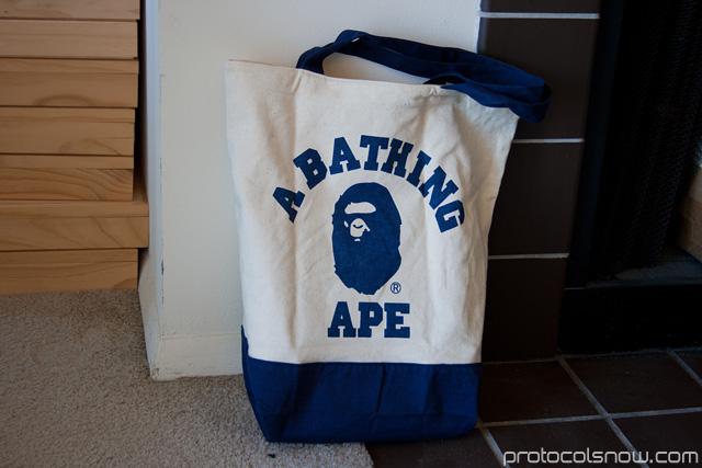 A Bathing Ape Bape e-mook Japanese catalog tote bag