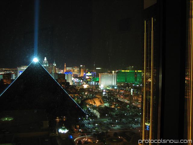 Las Vegas strip night view skyline