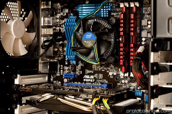PC build Intel i5 2500k CPU Fractal Design Define R3 case Asus P8P67 motherboard mobo