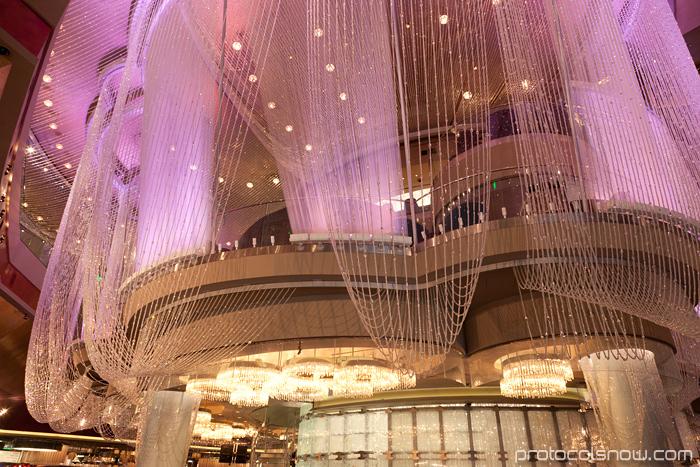 Beautiful Las Vegas Chinese New Year dragon decorations celebration Cosmopolitan chandelier lounge bar hotel casino