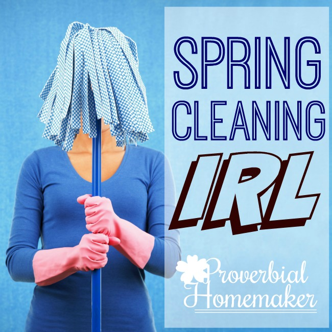 Spring Cleaning IRL - Love these tips and ideas for spring cleaning I can actually do!
