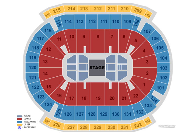 Seating Maps and Charts Prudential Center Newark NJ
