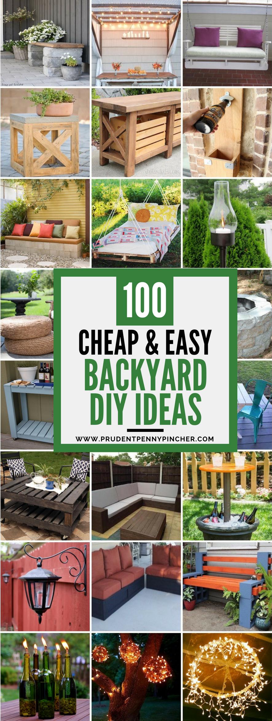 100 Cheap and Easy DIY Backyard Ideas