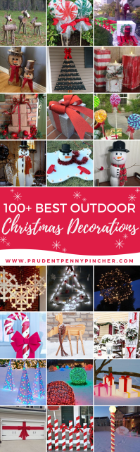 100 Best Outdoor DIY Christmas Decorations - Prudent Penny ...