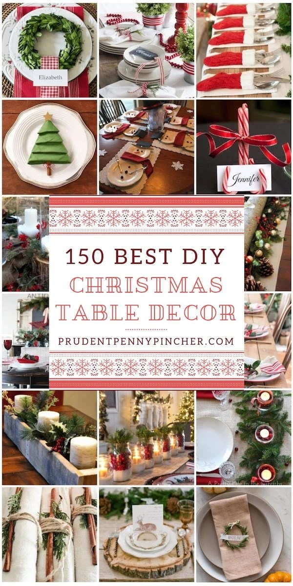 150 Christmas Table Decorations - Prudent Penny Pincher