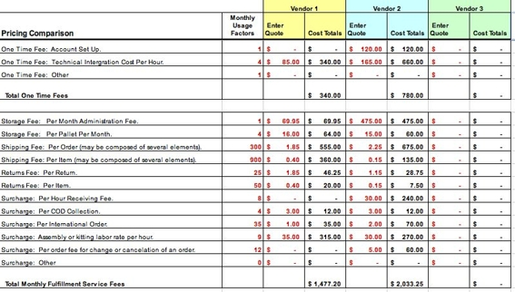comparison table template word sample - Prune Spreadsheet Template