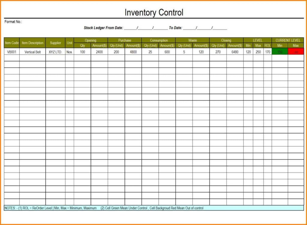 Printable Inventory Sheet And Printable Inventory Log Sheets - Prune