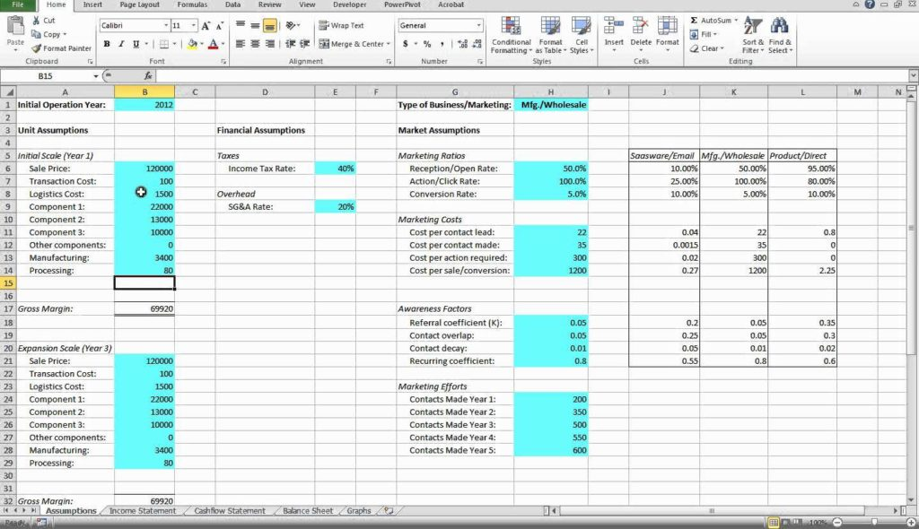 Financial Ratio Analysis Xls And Sample Financial Analysis Report