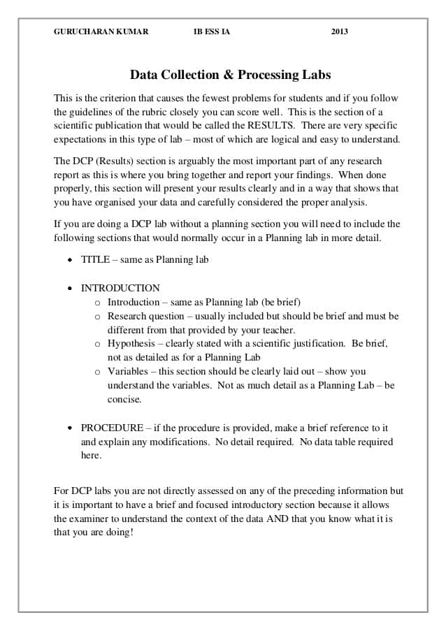 Lab Report Example Physics And Sample Lab Reports Chemistry - Prune