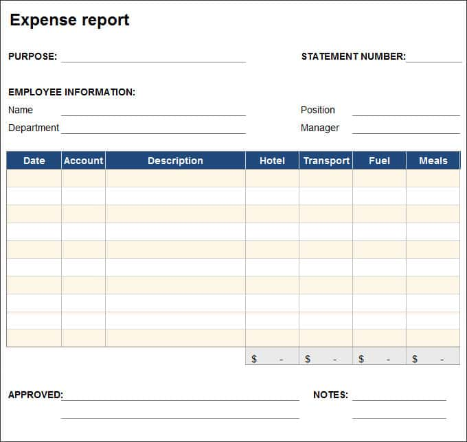 Sample Travel Expense Claim Form And Sample Expense Form Template