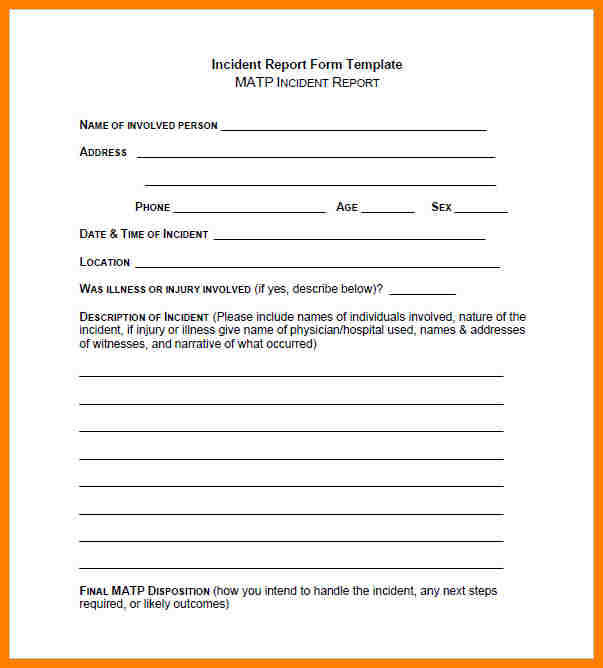 Security Guard Report Template Pdf And Security Guard Incident