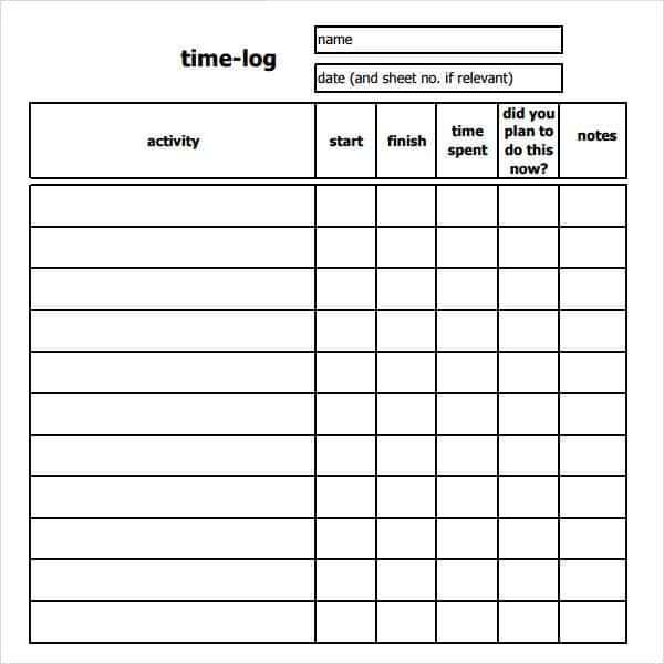 Free Sample Timesheets And Sample Daily Time Sheet Excel - Prune