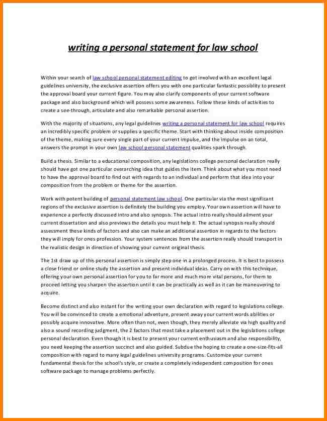 Sample Personal Statement Law School Uk And Examples Of Strong