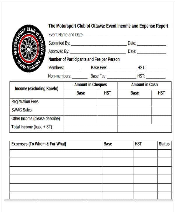 Event Income And Expense Report Template And Event Budget Calculator