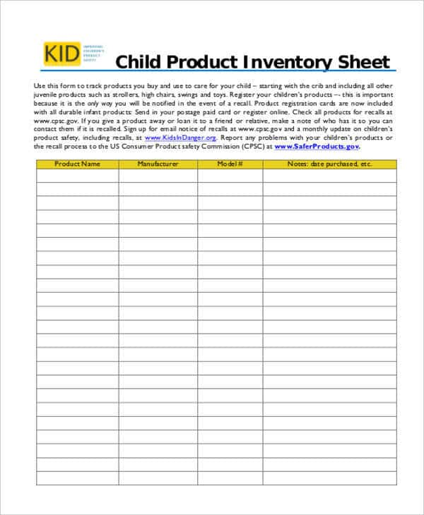 Excel Inventory Template With Formulas And Company Inventory