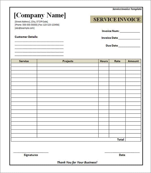 Free Printable Invoice Templates And Billing Invoice Format In Word