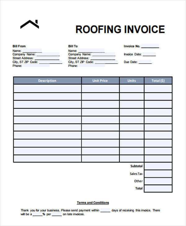 Roofing Estimate Forms And Metal Roofing Estimate Template - Prune