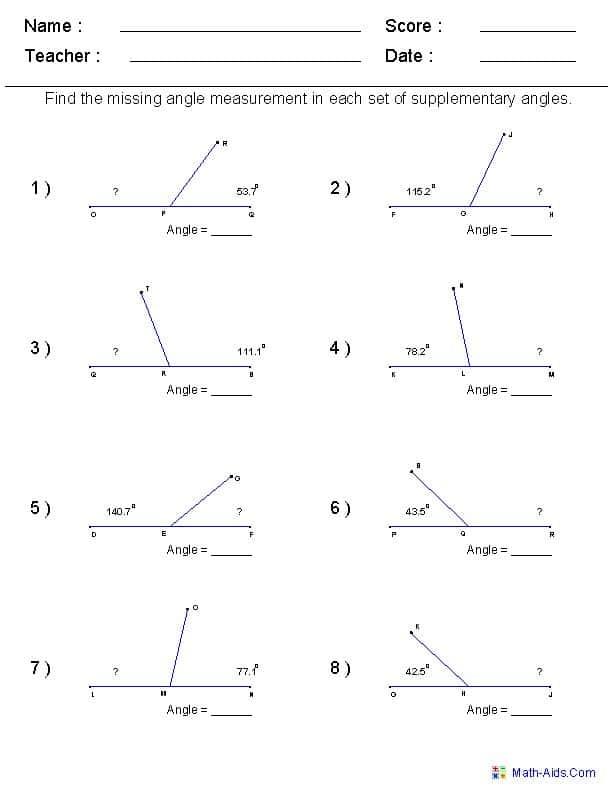 Free Printable Geometry Worksheets For High School And Fun Geometry