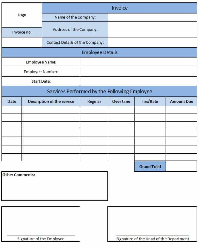 Courier Invoice Format Excel And Small Business Invoice Template