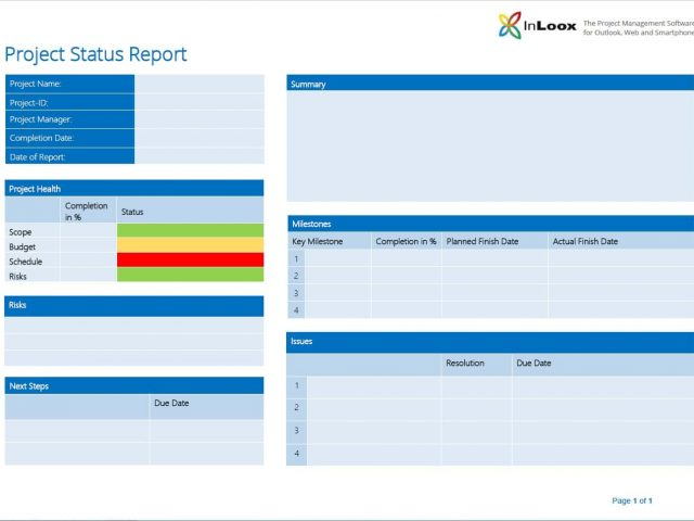 Example Of Project Summary Report And One Page