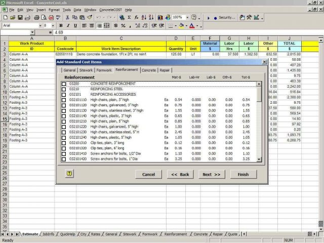 Free Construction Estimate Template And Building Estimation And