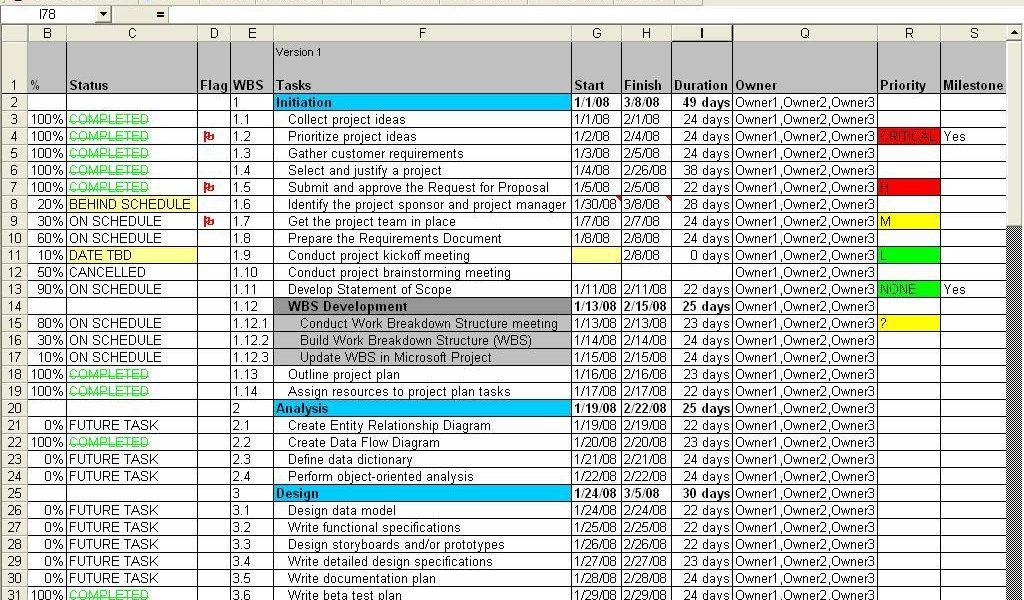 microsoft excel gantt chart template free download 1 - Prune