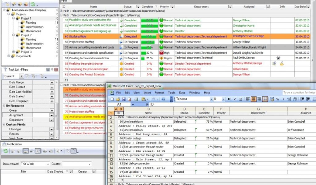 multiple project tracking template excel sample 2 - Prune