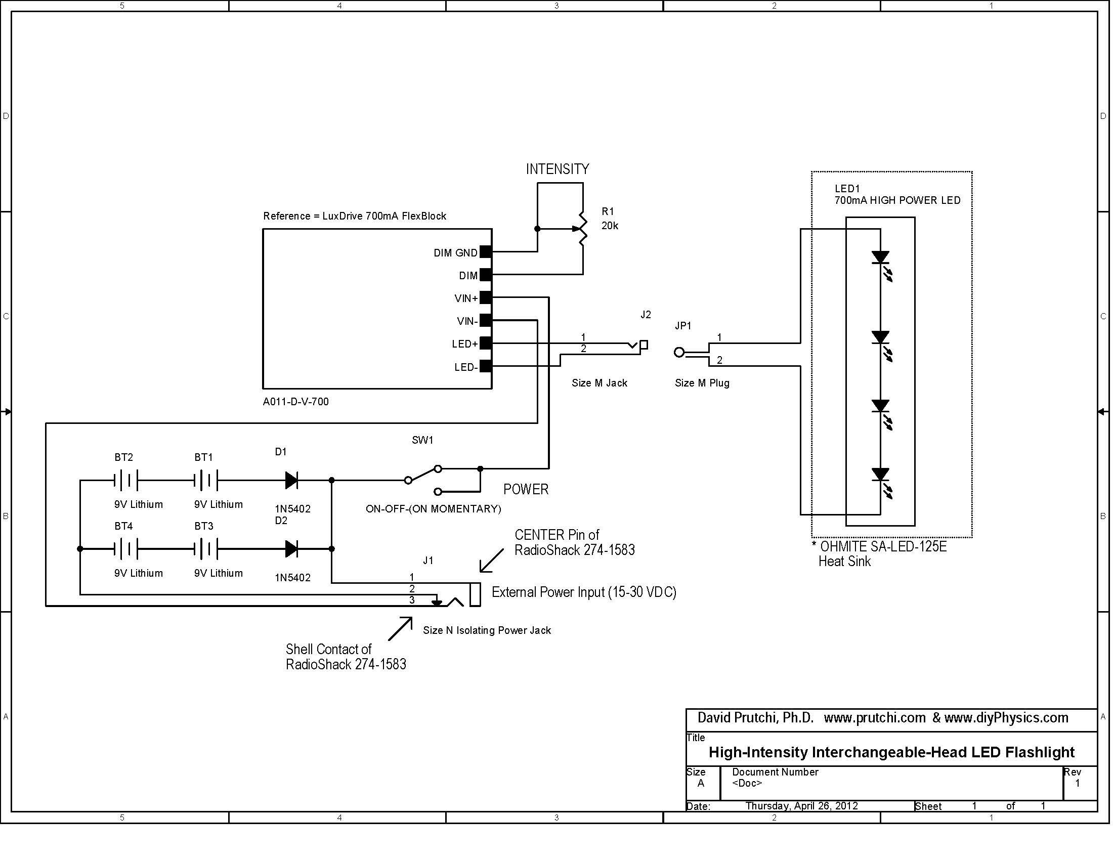 Simple Wire Diagram Led Lightsaber Auto Electrical Wiring
