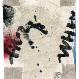 """""""Uden Titel"""" (fire hjørner), 2013. Acryl/collage på papir, 28 x 23 cm. DKK 2.200,- (u. ramme)"""