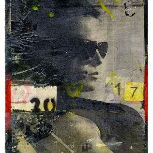 "Lars Pryds: ""Between 17 and 20"", 2012. Acryl/Collage på papir, 28 x 23 cm. Foto: Lars Pryds."