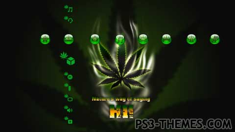 Ganja Wallpaper 3d Famous Weed Ps3 Theme