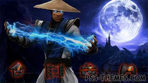 Ps3 Animated Wallpaper Ps3 Themes 187 Raiden Mortal Kombat