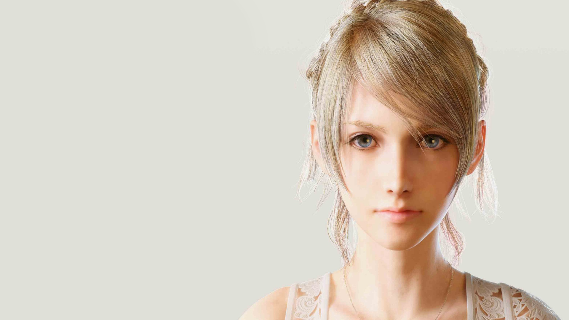 Beautiful Girl Face Hd Wallpaper Lunafreya Nox Fleuret Ps4wallpapers Com