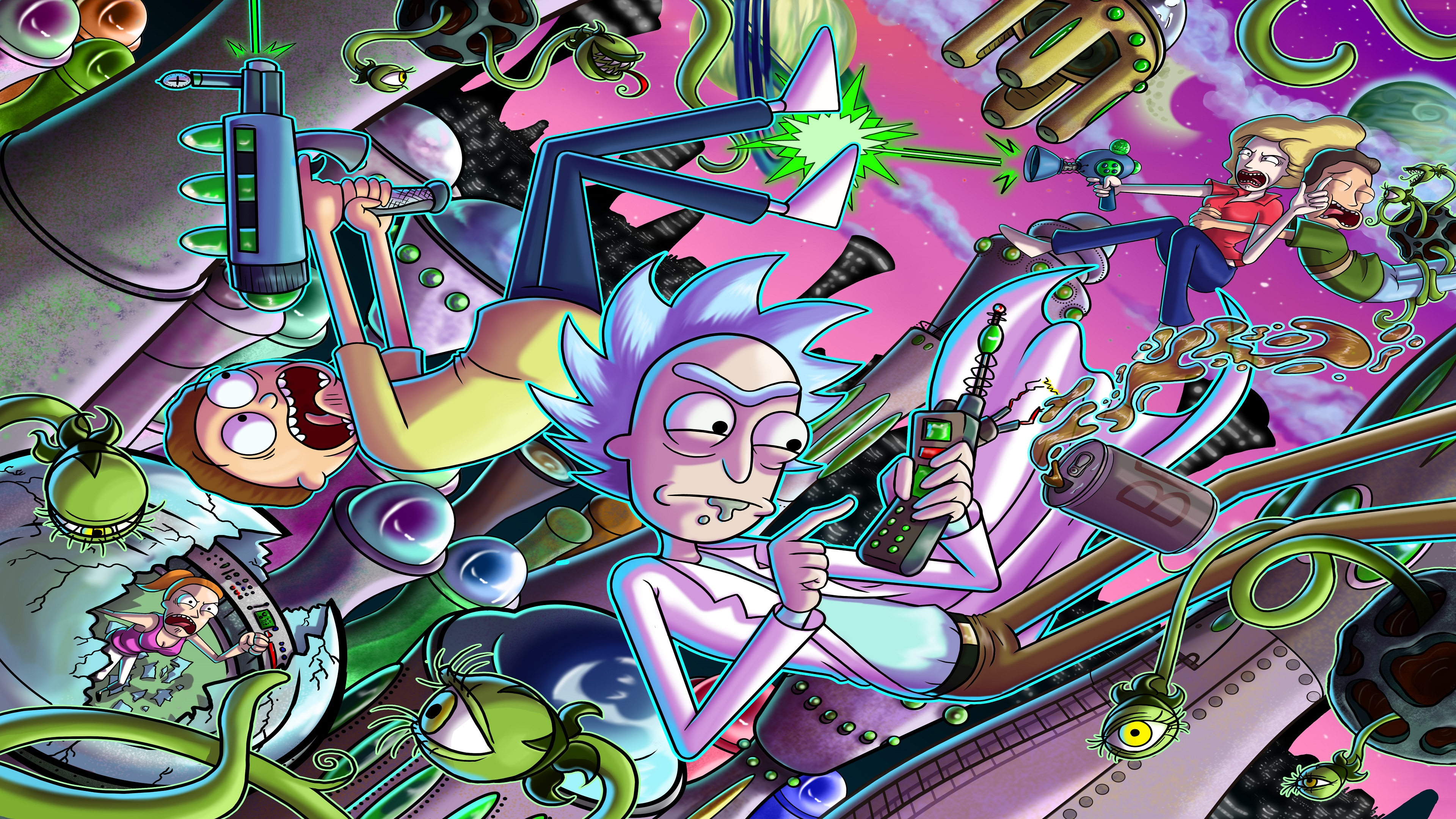 Psychedelic Girl Wallpaper Rick Amp Morty 2 Ps4wallpapers Com
