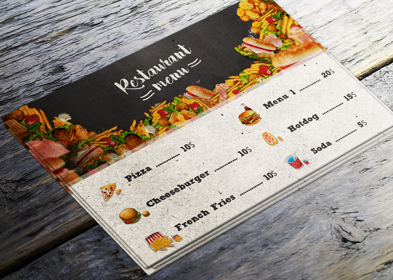 How To Make A Restaurant Menu Flyer In Photoshop - Photoshop