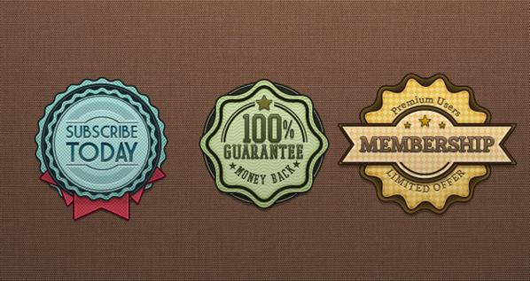 Badge and Label Vector Template with PSD File PSDDude - abel templates psd