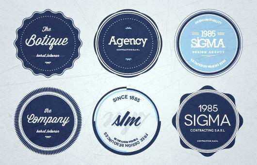Retro Insignia Badge and Label PSD Files PSDDude - abel templates psd