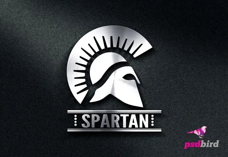 Free Spartan Logo Template PSD