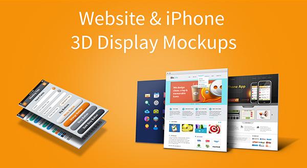 3D Website Display Mockups Free PSD PSDExplorer