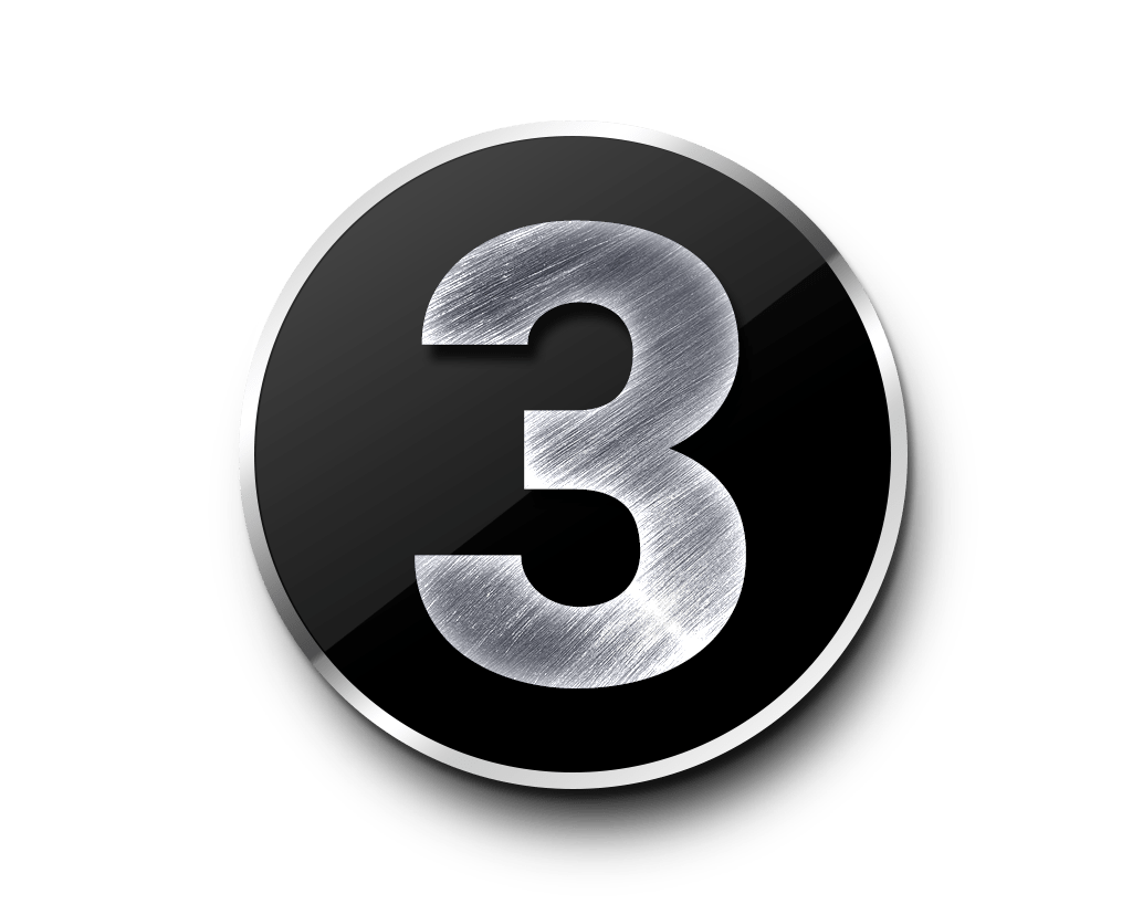 Metal Numbers Template Psd Psdgraphics
