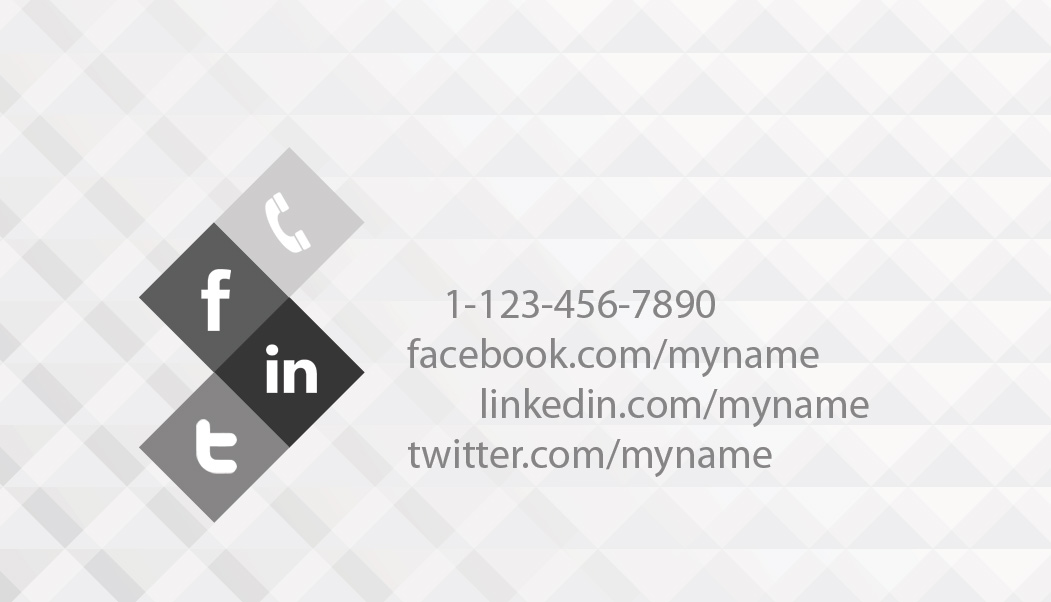Black and white business card template PSDGraphics - Buisness Card Template