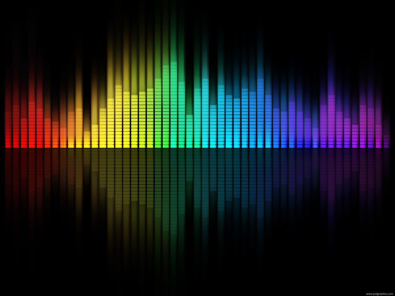 Medium size preview (1280x960px): Music equalizer background