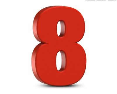 Red 3D numbers set   PSDGraphics